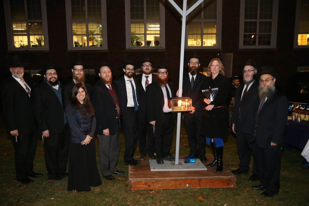 Borough Hall Melinda Katz Shluchim Chanukah